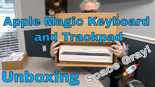 Space Gray Apple Magic Trackpad and Keyboard Unboxing