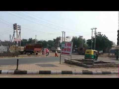 Being driven through Faridabad, the largest city of Haryana state in northern India