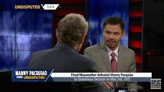 MANNY PACQUIAO SAYS CONOR MCGREGOR IS NO MATCH FOR FLOYD MAYWEATHER IN A BOXING RING!