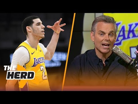 Colin Cowherd reacts to the Lakers' 8th straight win with Lonzo in the lineup | THE HERD