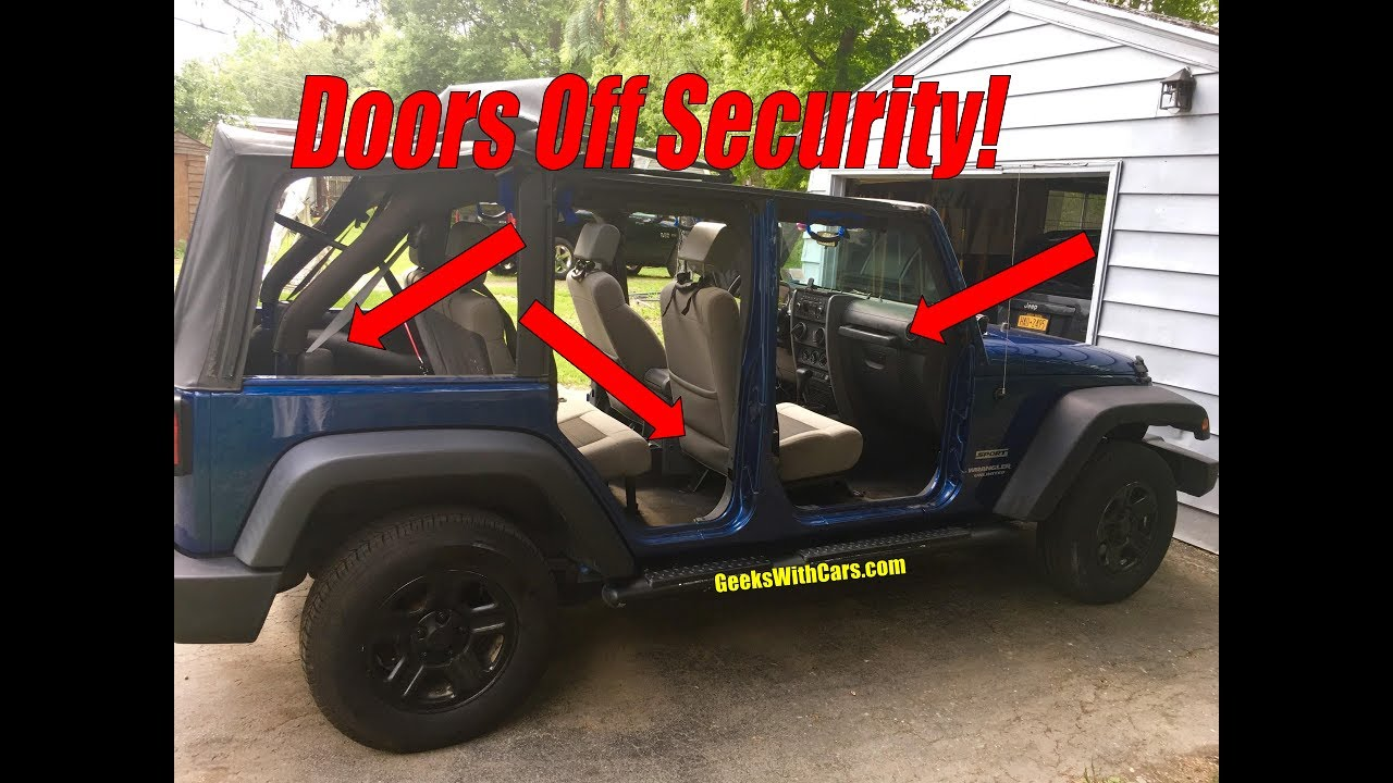 Jeep Wrangler Storage Options When The Doors Are Off