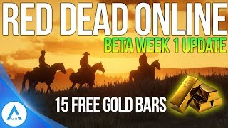 Red Dead Online Week #1 Update: FREE $250 +15 Gold Bars, Gun Prices Lower, Selling Price Increase!