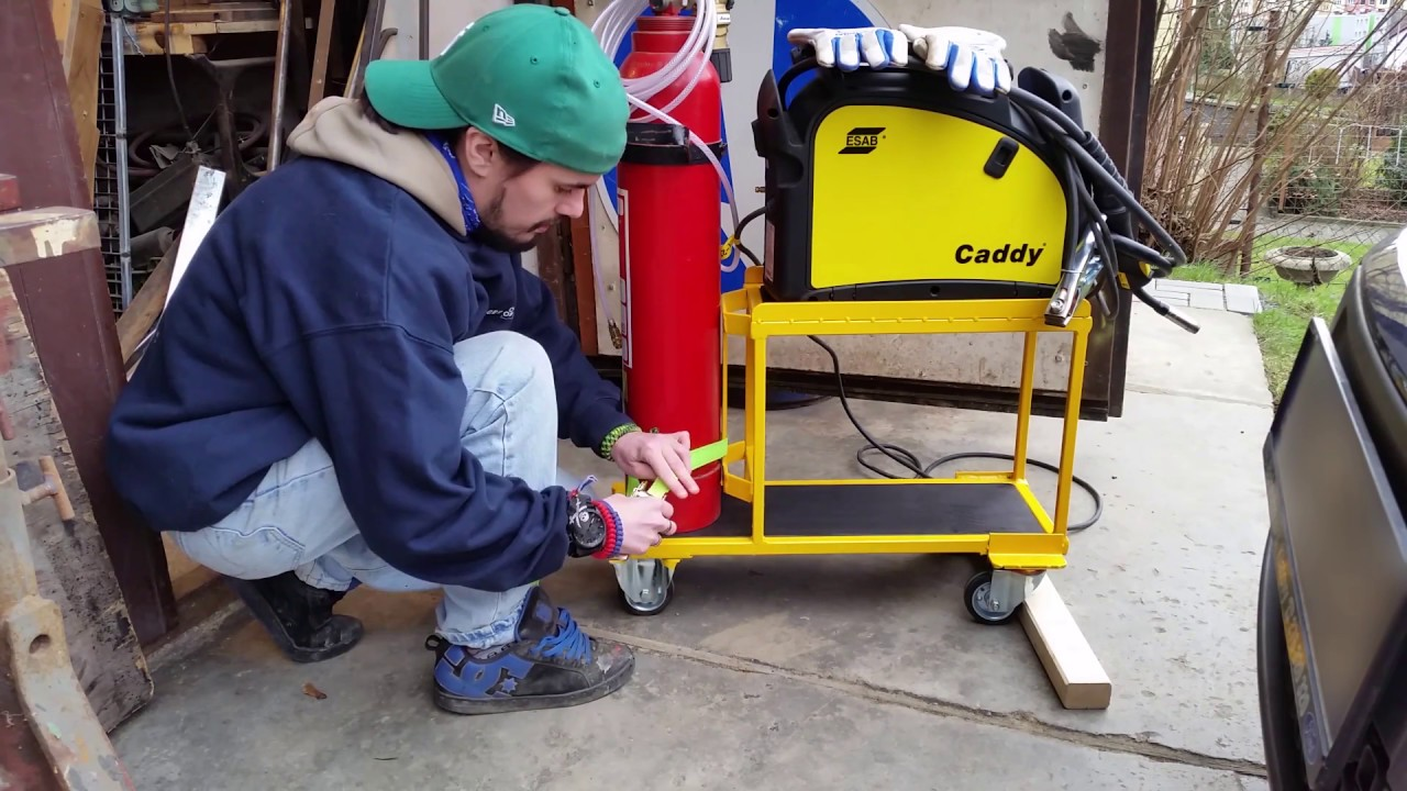 DIY welding cart - YouTube