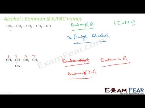 Chemistry Alcohol, Phenol & Ether part 3 Alcohol IUPAC nomenclature CBSE class 12 XII