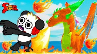 Training Dragon gone wrong! Roblox Dragon Rage Let's Play with Combo Panda