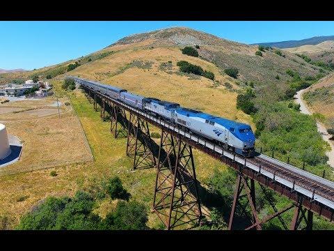Chasing Amtrak for 3 Miles