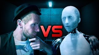 Interrogating an I,Robot! |BOIBOT| Funny Moments!