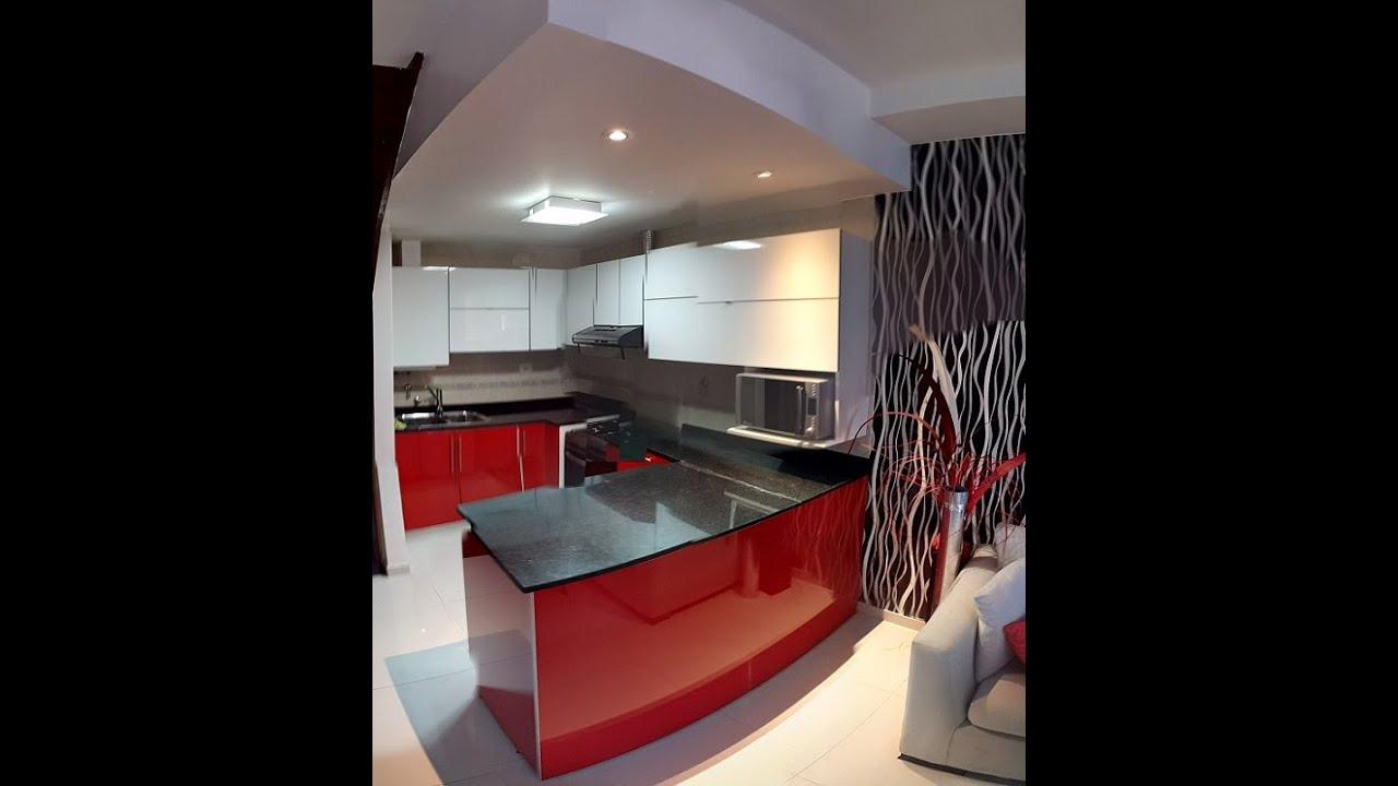 Remodelacion cocinas muebles laqueado rojo alacenas - Alacenas modernas fotos ...