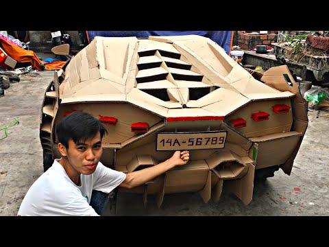 Chế tạo Lamborghini Sian từ chân máy cày và bìa giấy | Diy Lamboghini Sian From Cardboard