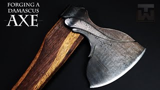 Forging a Damascus Axe