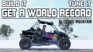 Forza Horizon 3 - 126bhp Rockstar Polaris WORLD RECORD - TUNE and BUILD - BLIZZARD MOUNTAIN