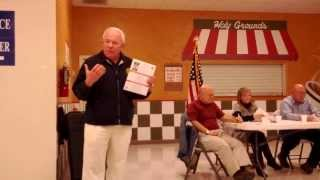 Arizona Governor Candidate Al Melvin at Mohave Co. MCRCC 1-4-2014