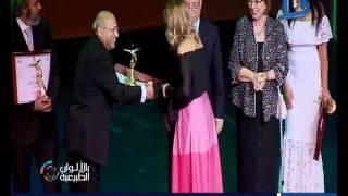 بالألوان الطبيعية| تكريم شرين رضا وناهد السباعى كأفضل ممثلات بمهرجان  القومي للسينما في الـ20
