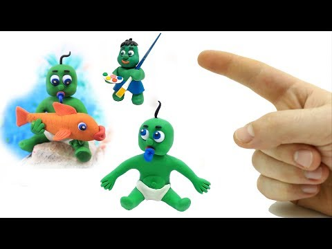 Kids Video Stop-Motions Green Baby Play-time Compilation-Play Doh Kids Cartoons