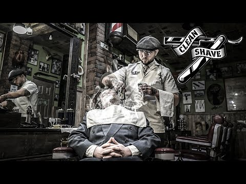 ASMR - Hot Towel Wet Shave -  Relaxing Experience - Old School Barber Shop - RAW SOUND - Razor Blade
