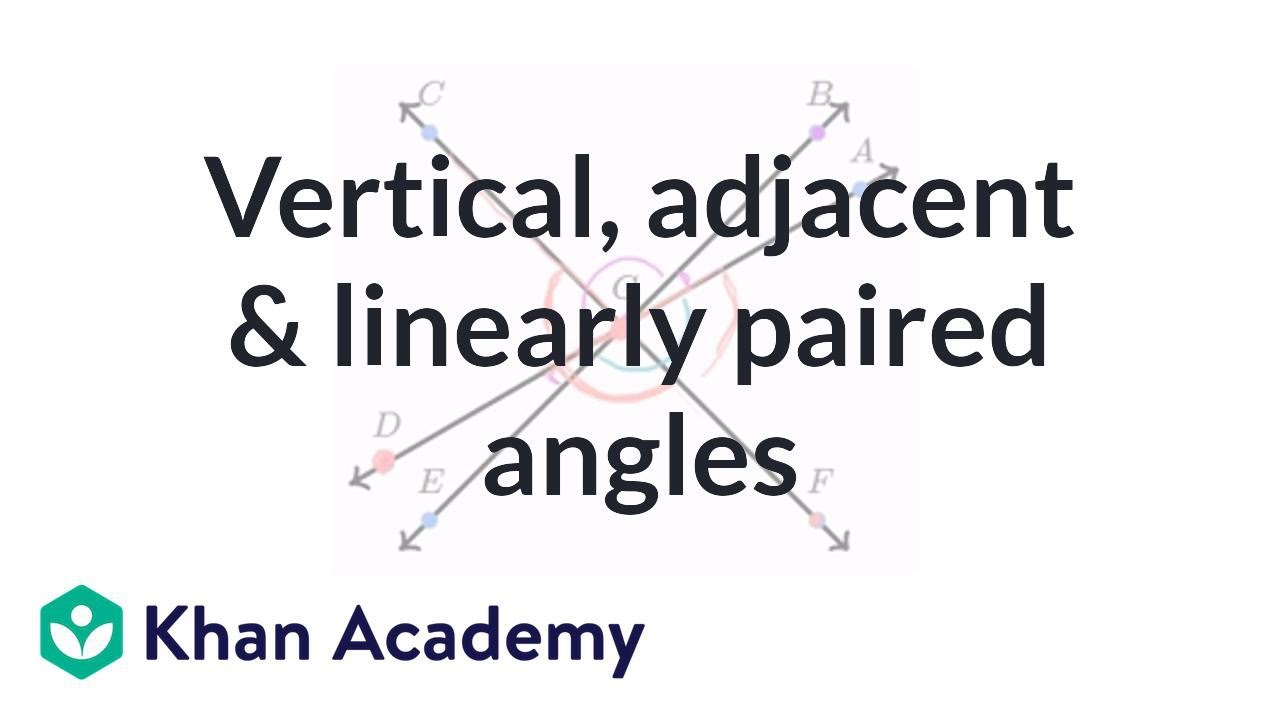 small resolution of Angle relationships example (video)   Angles   Khan Academy