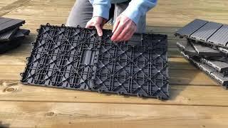 Sådan lægger du PLUS 30×30 cm kompositfliser, varenummer 4518-1
