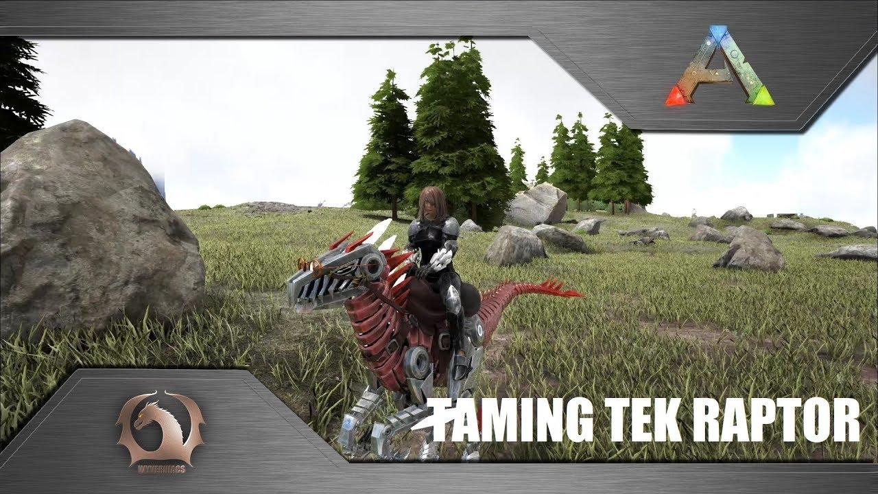 Download ARK Survival Evolved - Taming Tek Raptor / How to tame (Ragnarok)