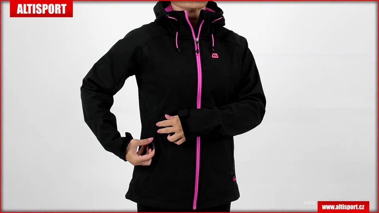 b6f4d202fe3 dámská bunda softshell alpine pro lalita černá - YouTube