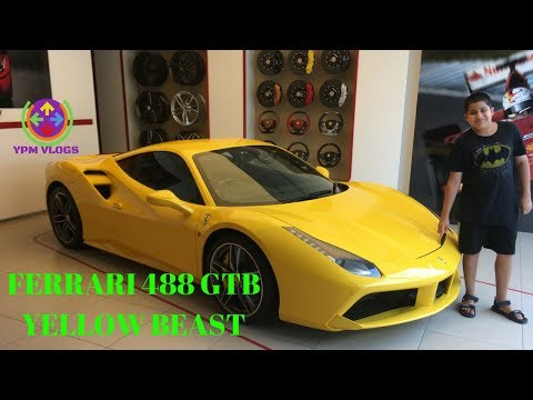 FERRARI | 488 GTB | SUPERCAR | YELLOW BEAST | FULL EXPLORE | SHOWROOM | NEW DELHI | YPM VLOGS