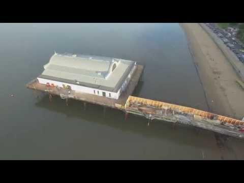 Pier Cleethorpes, aerial view by Drone, DJI Phantom 3 Pro 4K. HFPH4K
