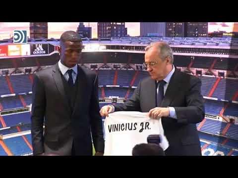 Presentación oficial de Vinicius Junior como jugador del Real Madrid