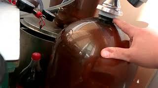 как розлить пиво по ПЭТ бутылкам через пегас классик. Правильное давление. Розлив без пены
