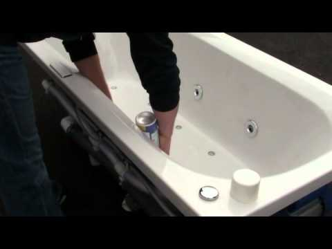 Cleaning Jacuzzi, jetted tub with hygienic foam