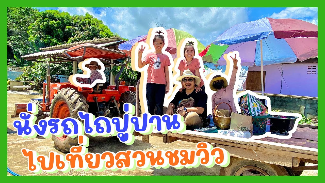 YimYam Family   นั่งรถไถชมวิว