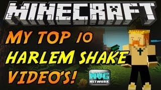 ♪ TOP 10 BEST MINECRAFT HARLEM SHAKE VIDEOS! BY KING JOJO