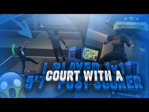 I went to the 1v1 court on my 5'7 Post Scorer and this happened live nba 2k19