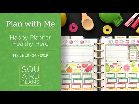 Watercolor Fruits (The Paper Studio) :: Plan with Me :: Happy Planner Healthy Hero