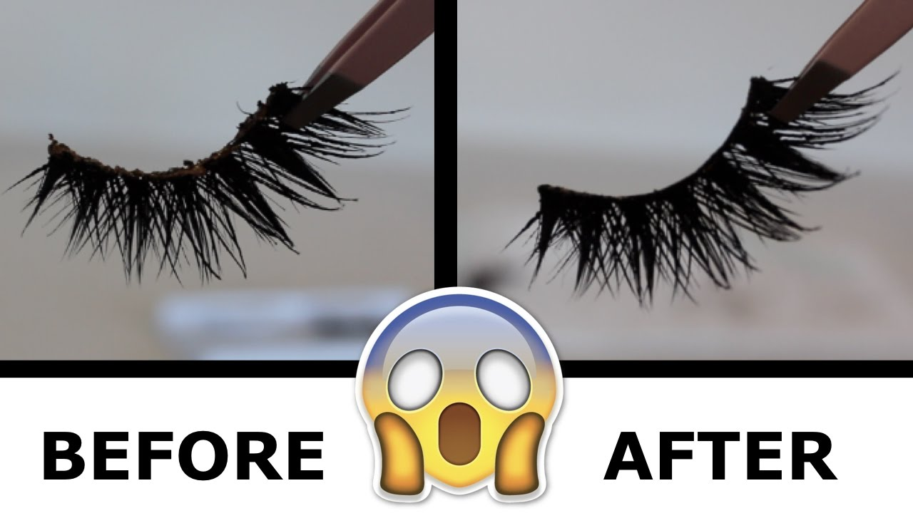 661114b0774 HOW TO CLEAN YOUR FAKE LASHES AND GET THEM BRAND NEW AGAIN! - YouTube