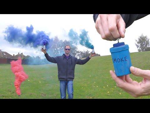 Pull Pin Colored Smoke Bomb & Trip wire
