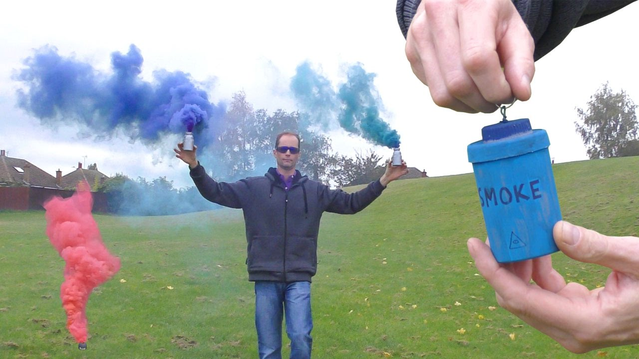 Pull Pin Colored Smoke Bomb & Trip wire - YouTube