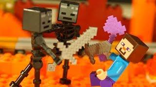 Лего Мультики Бой в Подземелье для НУБика Майнкрафт LEGO Minecraft - Видео Мультфильмы для Детей