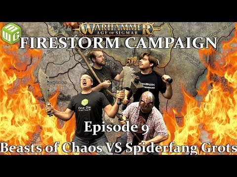 Beasts Of Chaos Vs Spiderfang Grots Age Of Sigmar Battle Report - Firestorm Campaign Ep 9