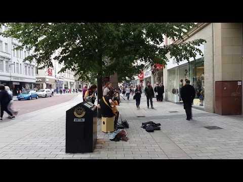 Street Music Scene Belfast, Northern Ireland 2018
