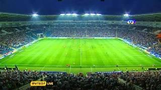 Фанаты Црвены Звезды на стадионе Черноморец
