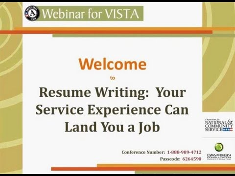 Resume Writing: How Your Service Experience Can Land You a Job