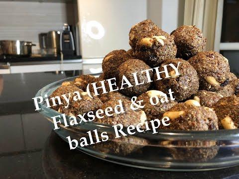 Alsi ki Pinya ( Healthy flax seed & oat balls) recipe