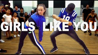 Download Lagu GIRLS LIKE YOU - Maroon 5 Dance || Kaycee Rice & Matt Steffanina Mp3