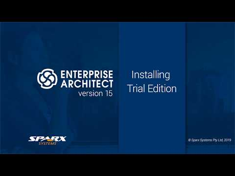 Installing and Running the Enterprise Architect 15 Trial for the First Time