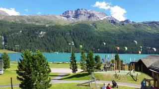 Lago di Silvaplana St.Moritz paradiso dei kyte e windsurfer