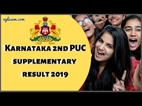 Karnataka 2nd PUC supplementary result 2019...