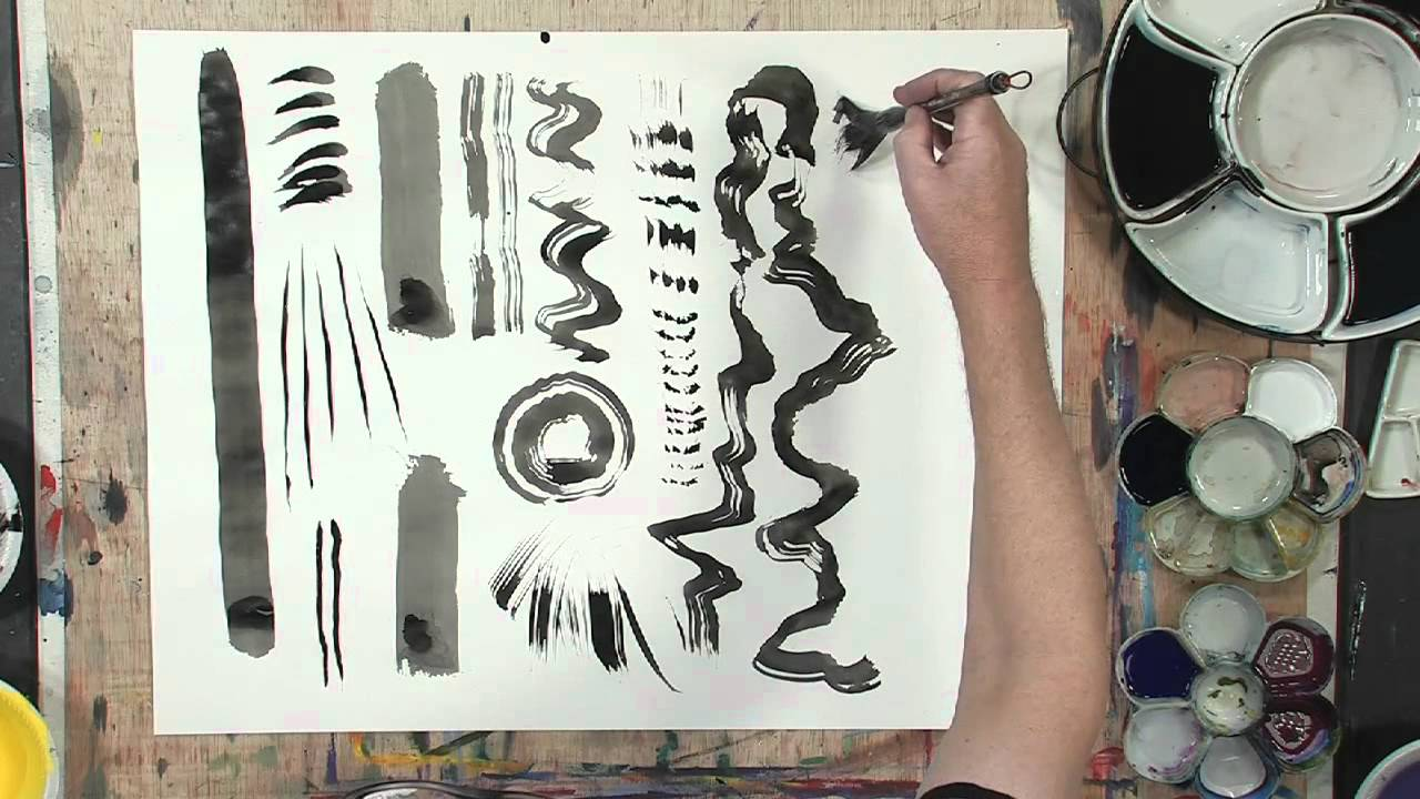 how to make your own strokes in sumi e painting youtube