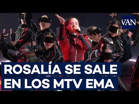 Espectacular actuación de Rosalía en los MTV EMAs