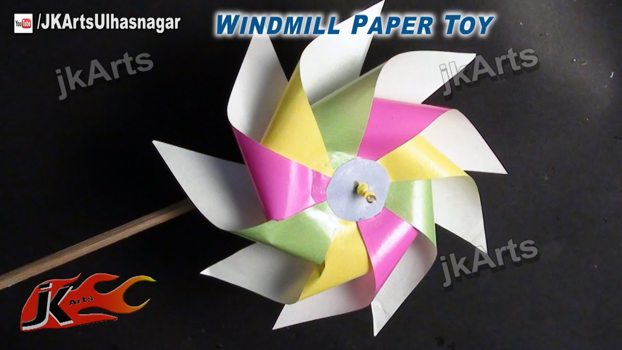 Paper Craft Ideas For Kids Videos Part - 18: DIY How To Make Paper Toy Pinwheel | Easy Craft For Kids | JK Arts 526 -  YouTube