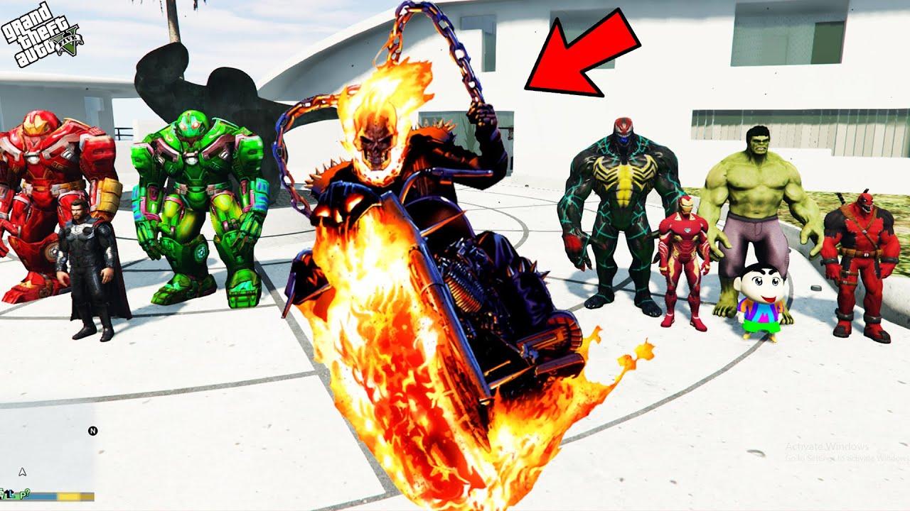 Download GTA 5 : Franklin Finally Saved SHINCHAN From Ghost Rider in GTA 5 !   Techerz