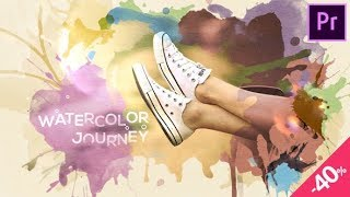 Premiere Pro Template: Watercolor Journey